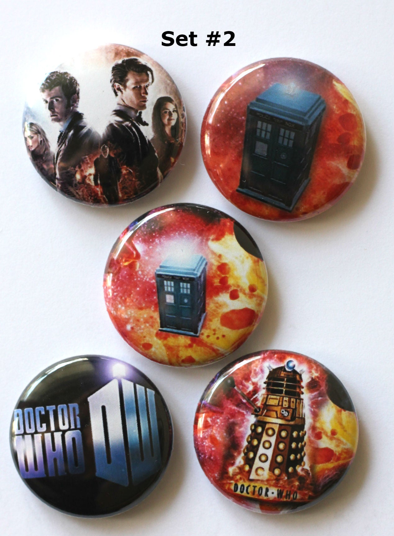 Image of Dr. Who Flair Buttons