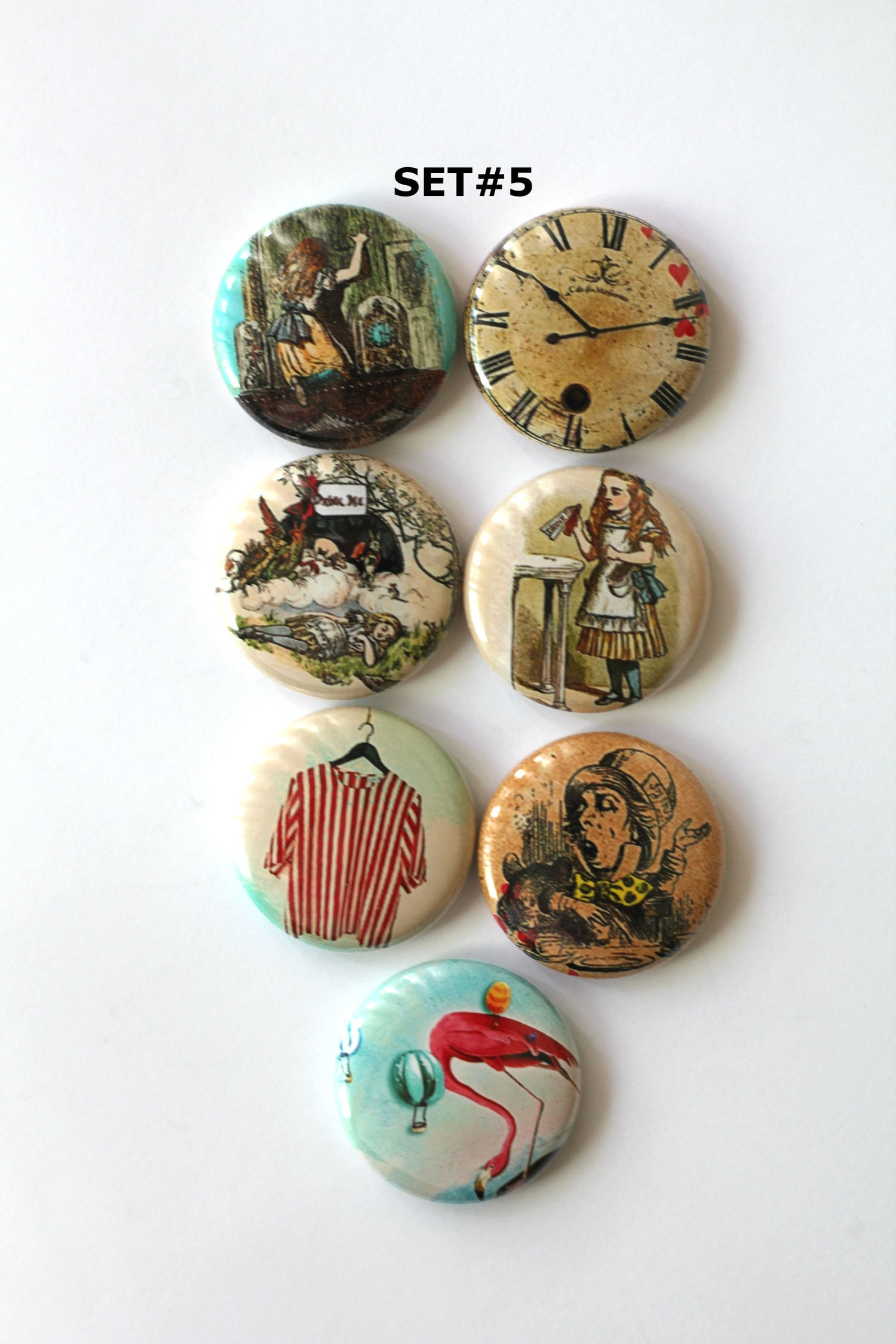 Image of Alice in Wonderland Flair Buttons