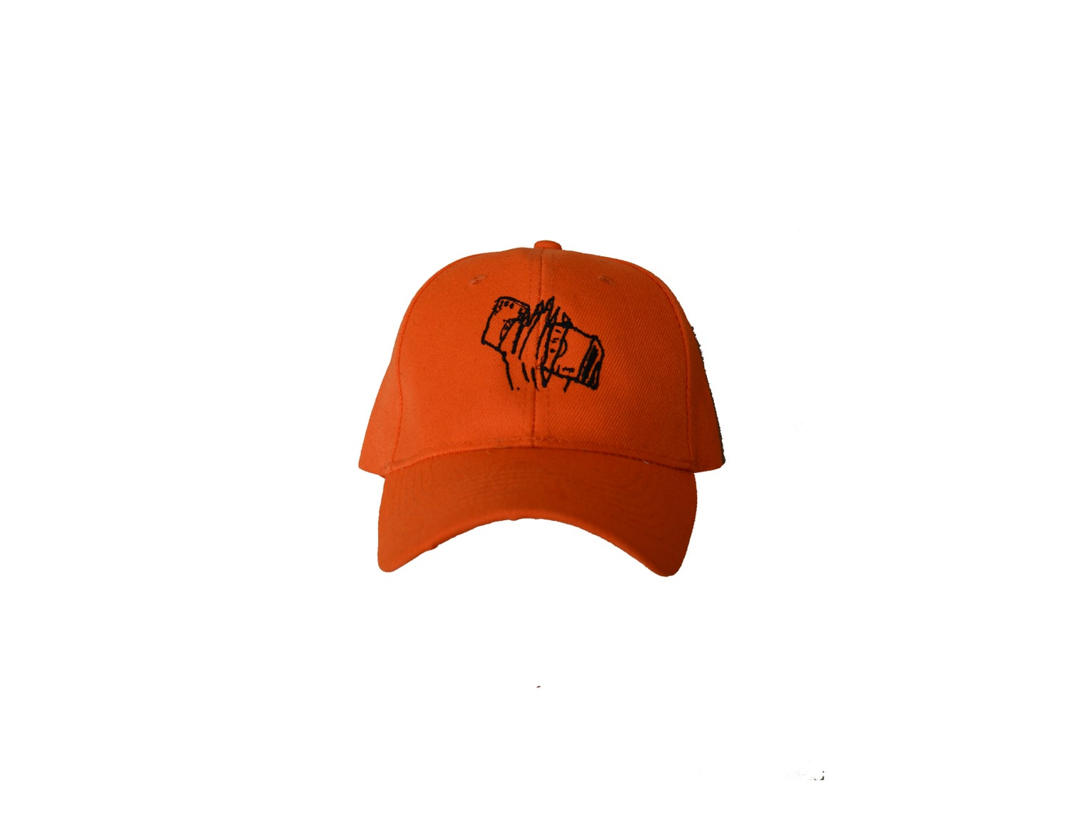 "Image of ""GET DA' $$"" - EMBROIDERED HAT (ORANGE)"