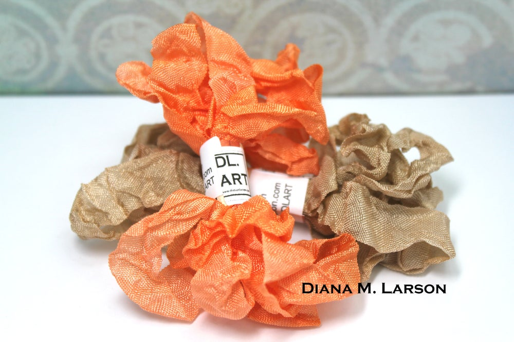 Image of Pumpkin spice latte crinkle ribbon