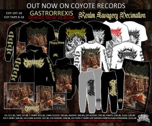 Image of NEW!!! GASTRORREXIS Realm Savagery Decimation CD/Merch