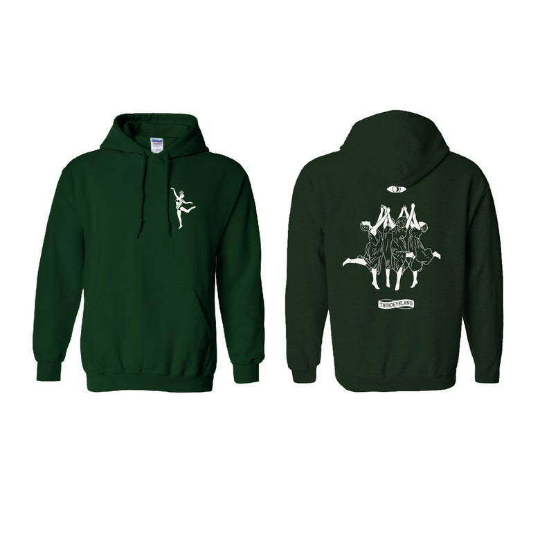 Image of Dancers Hoodie Forest Green