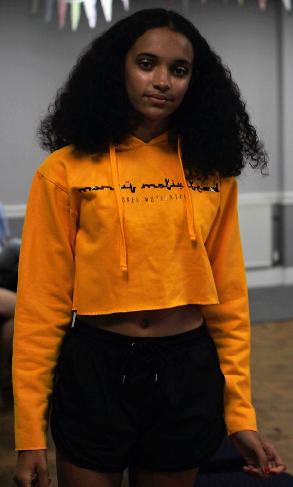 Image of 'MM' Cropped Hoodie