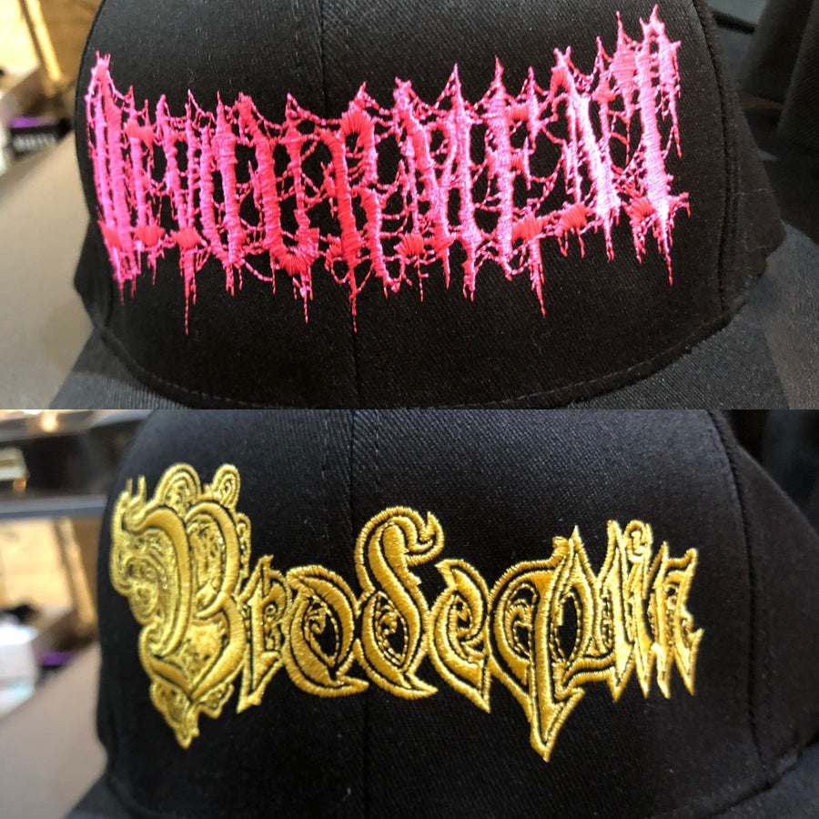 Image of Officially Licensed Devourment and Brodequin Logo flexfit!!!