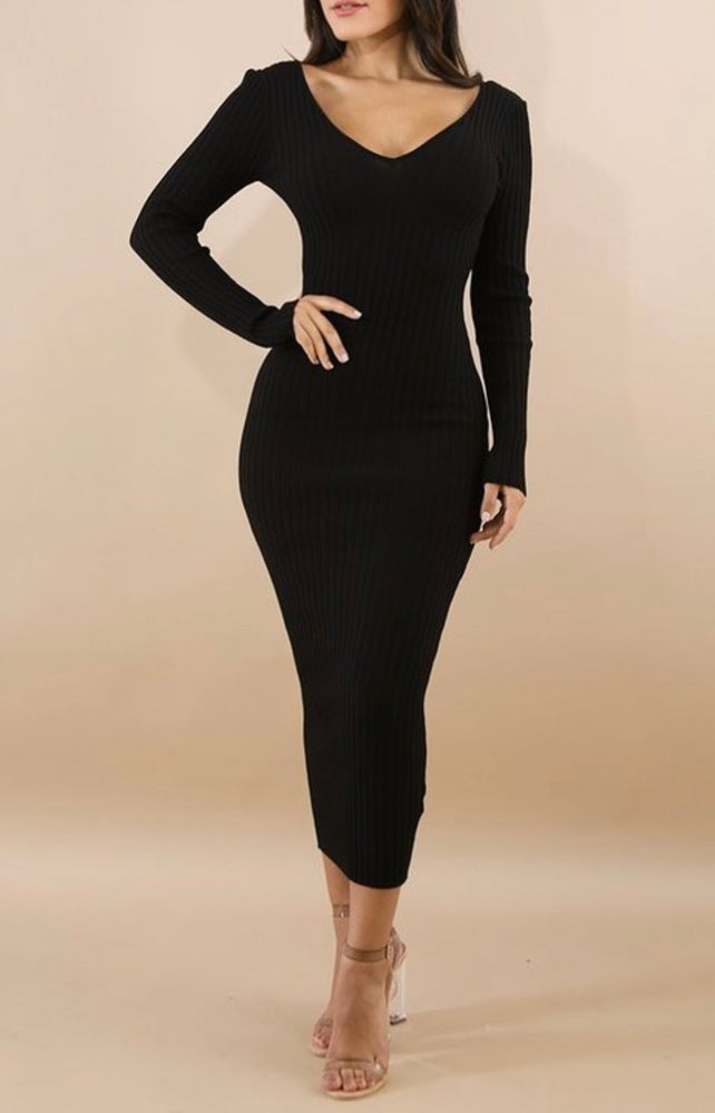 Image of Black  Sophisticated Dress