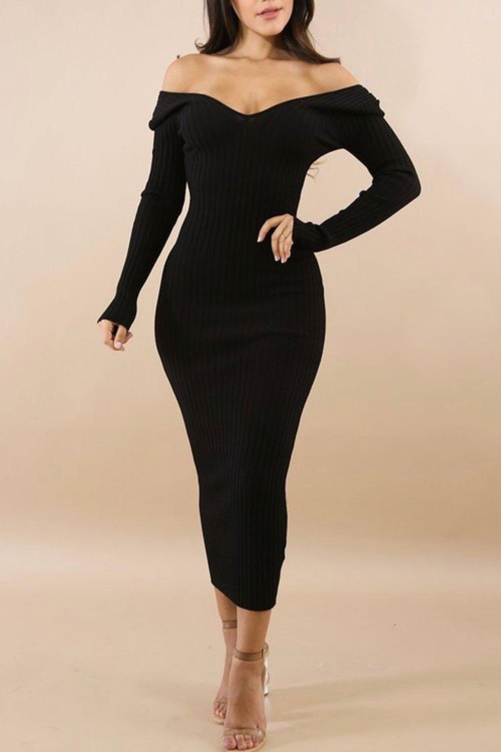Image of Black  Sophisticated Dress