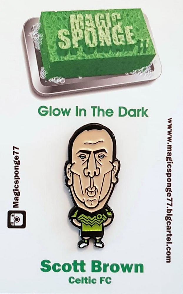 Image of Scott Brown Celtic FC (Glow In The Dark Pin)