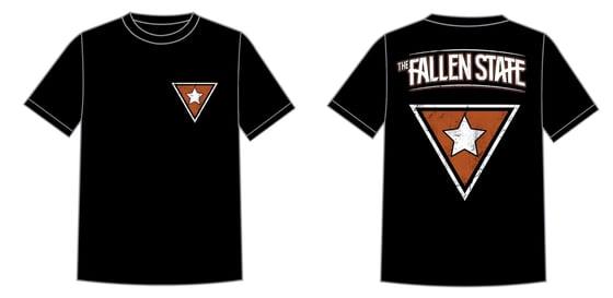 Image of Burnt Orange Triangle Logo Tee (two sided)