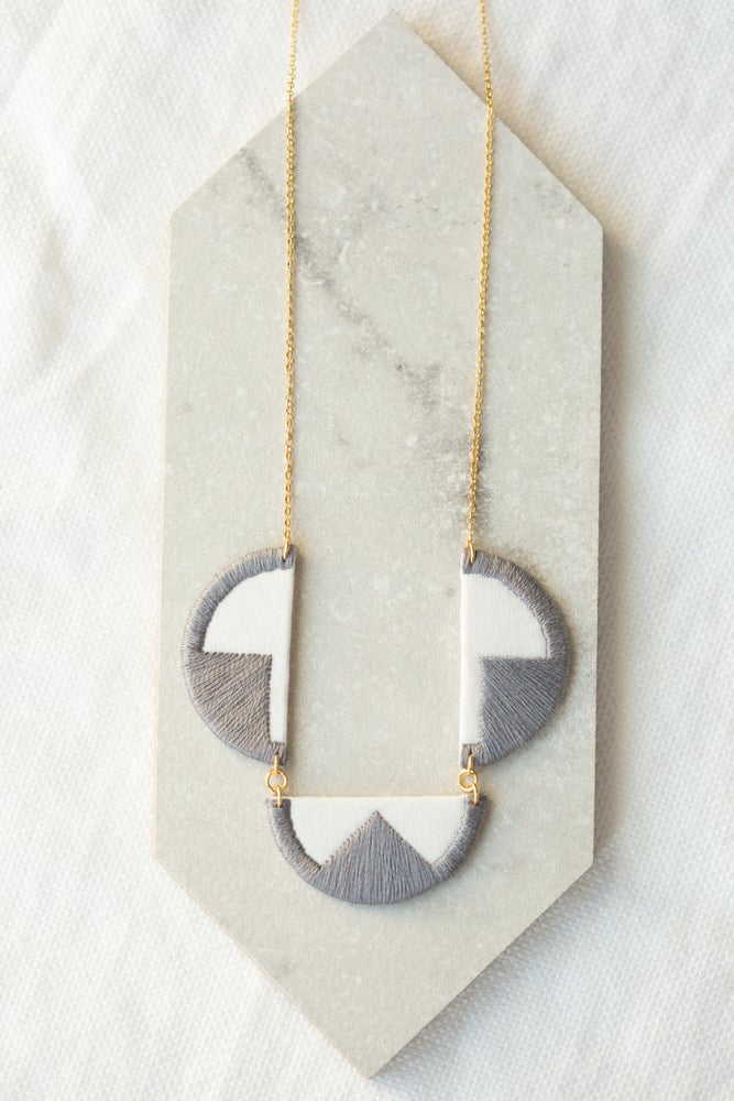Image of EBBE necklace in Grey