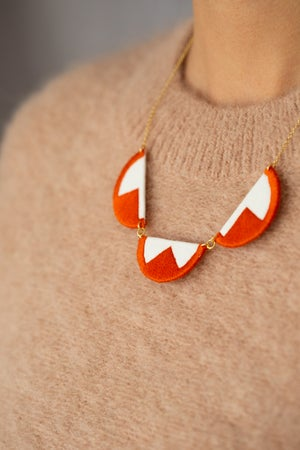 Image of EBBE necklace in Burnt Orange