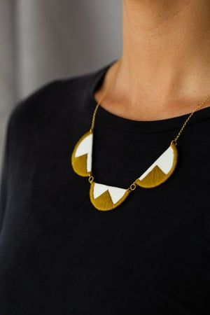 Image of EBBE necklace in Olive