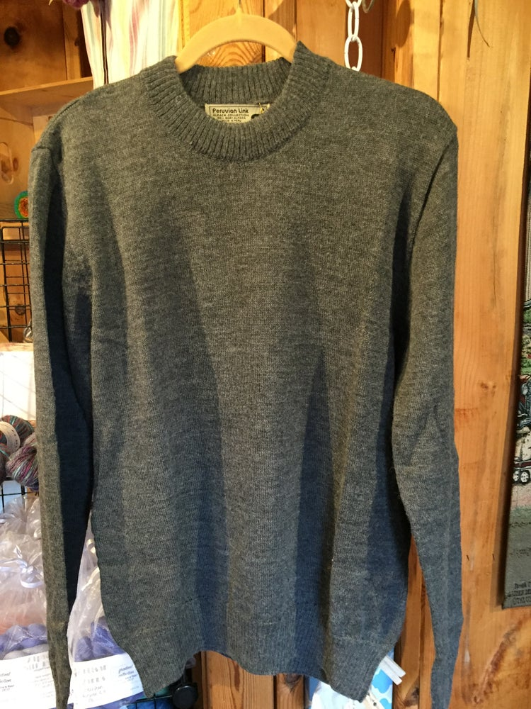 Image of Men's Alpaca Crew Neck Sweater