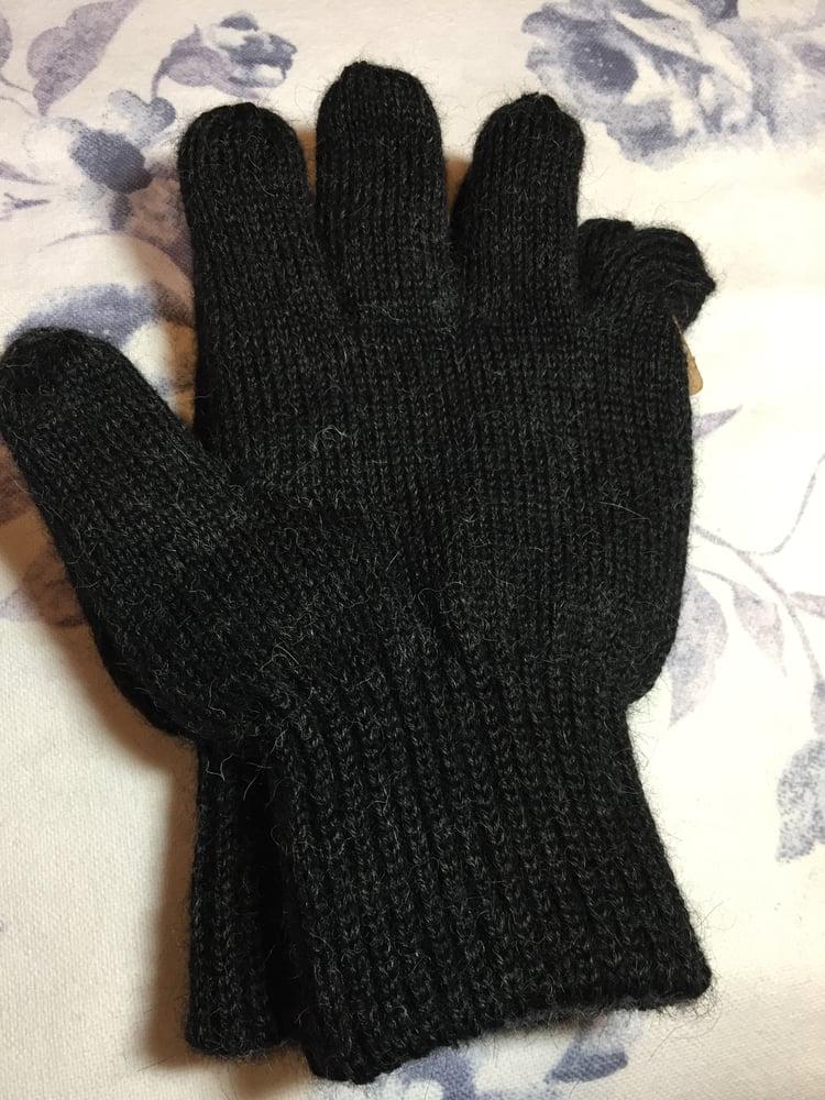 Image of Men's Alpaca Reversible gloves.