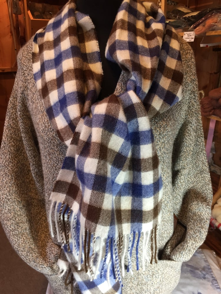 Image of Small Buffalo check Alpaca Scarf