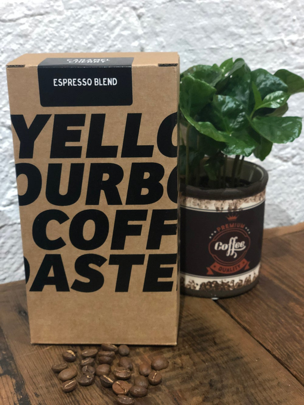 Image of Yellow Bourbon Coffee Espresso Blend Caramel Cherry 250g