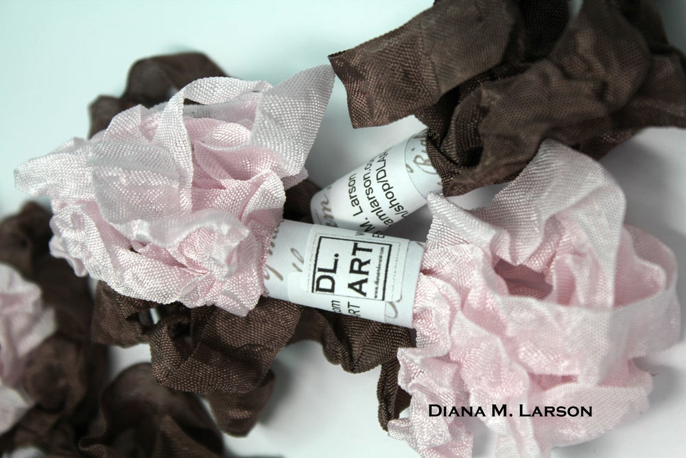 Image of Pink Champagne Milk Chocolate Crinkle Ribbon