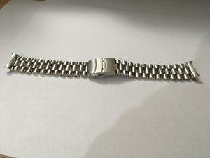 Image of SEIKO SOLID STAINLESS STEEL PRESIDENT GENTS WATCH STRAP,CURVED LUG,20MM,NEW,( BD-1 )