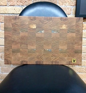 Image of Tad Mebane Signature Art • Butternut Wood Cutting Board/Chopping Block Set