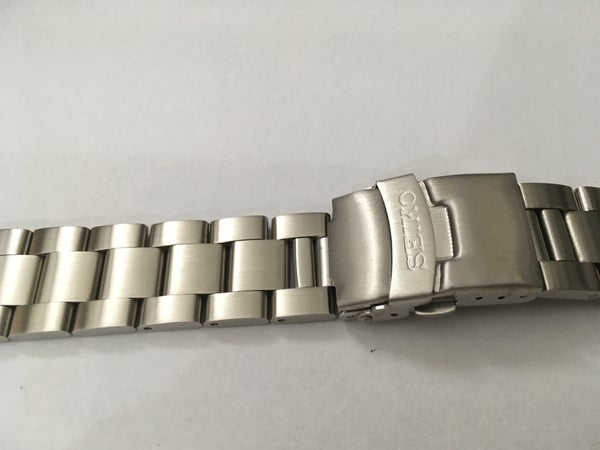 Image of SEIKO SOLID STAINLESS STEEL GENTS WATCH STRAP,CURVED LUG,20MM,NEW,( BD-2 )