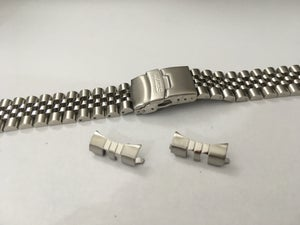Image of SEIKO SOLID STAINLESS STEEL JUBILEE GENTS WATCH STRAP,CURVED LUG,20MM/22MM,NEW,