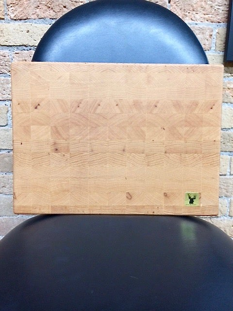 Image of Tad Mebane Signature Art • Western Maple Wood Chopping Block (Checkerboard Pattern)