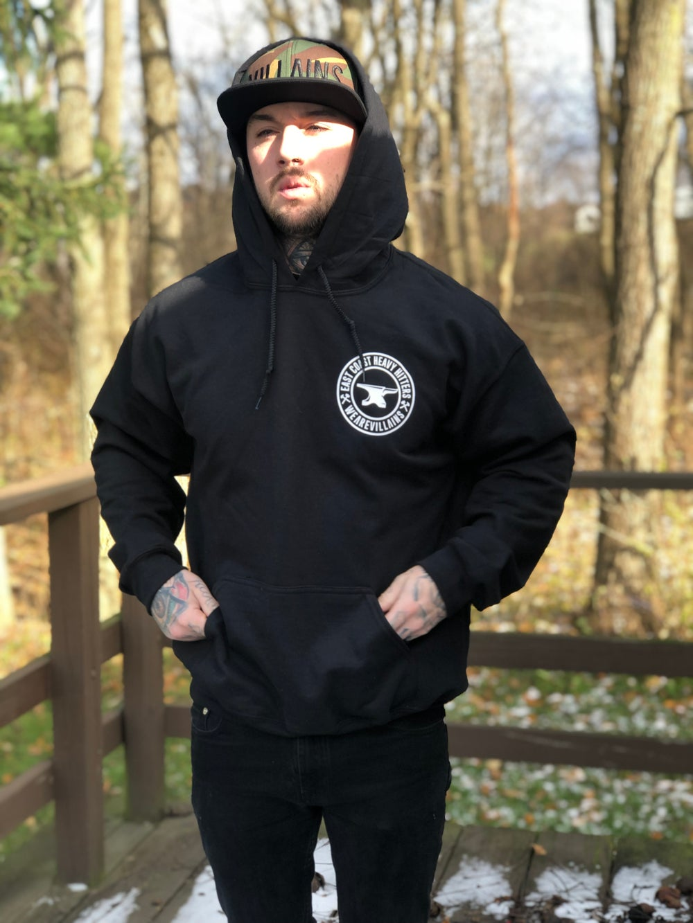 Image of EAST COAST HEAVY HITTERS WEAREVILLAINS hoodie