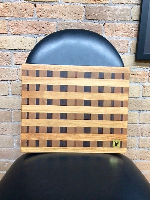 Image of Tad Mebane Signature Art • Mahogany, Cherry, and Black Walnut Wood Chopping Block