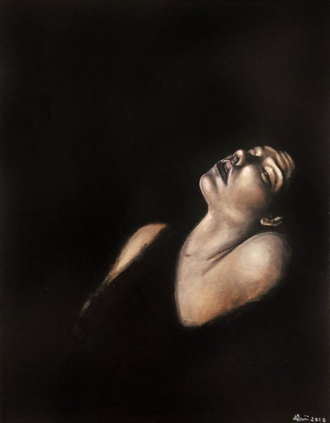 Image of Caravaggio Study (Original Painting)