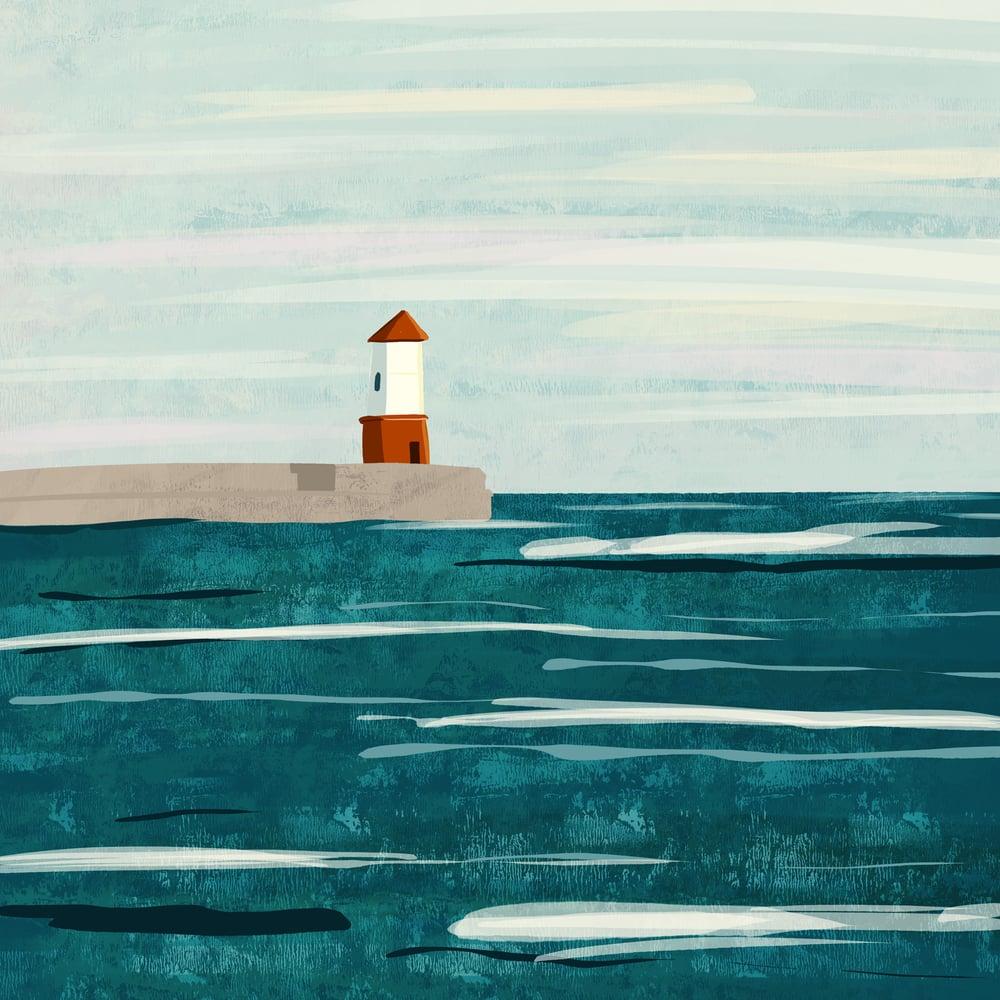 Image of HARBOUR WALL - Giclee Art Print - Beer Art by Neil Baker