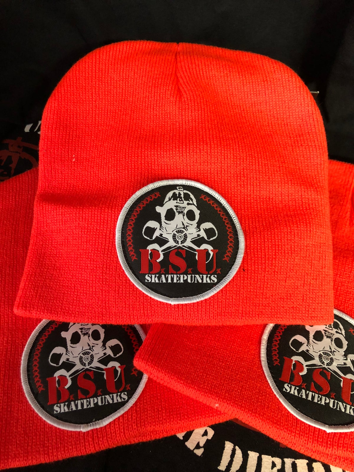 "Image of 8"" Recon Skatepunks Patch Beanie Fl Orange"