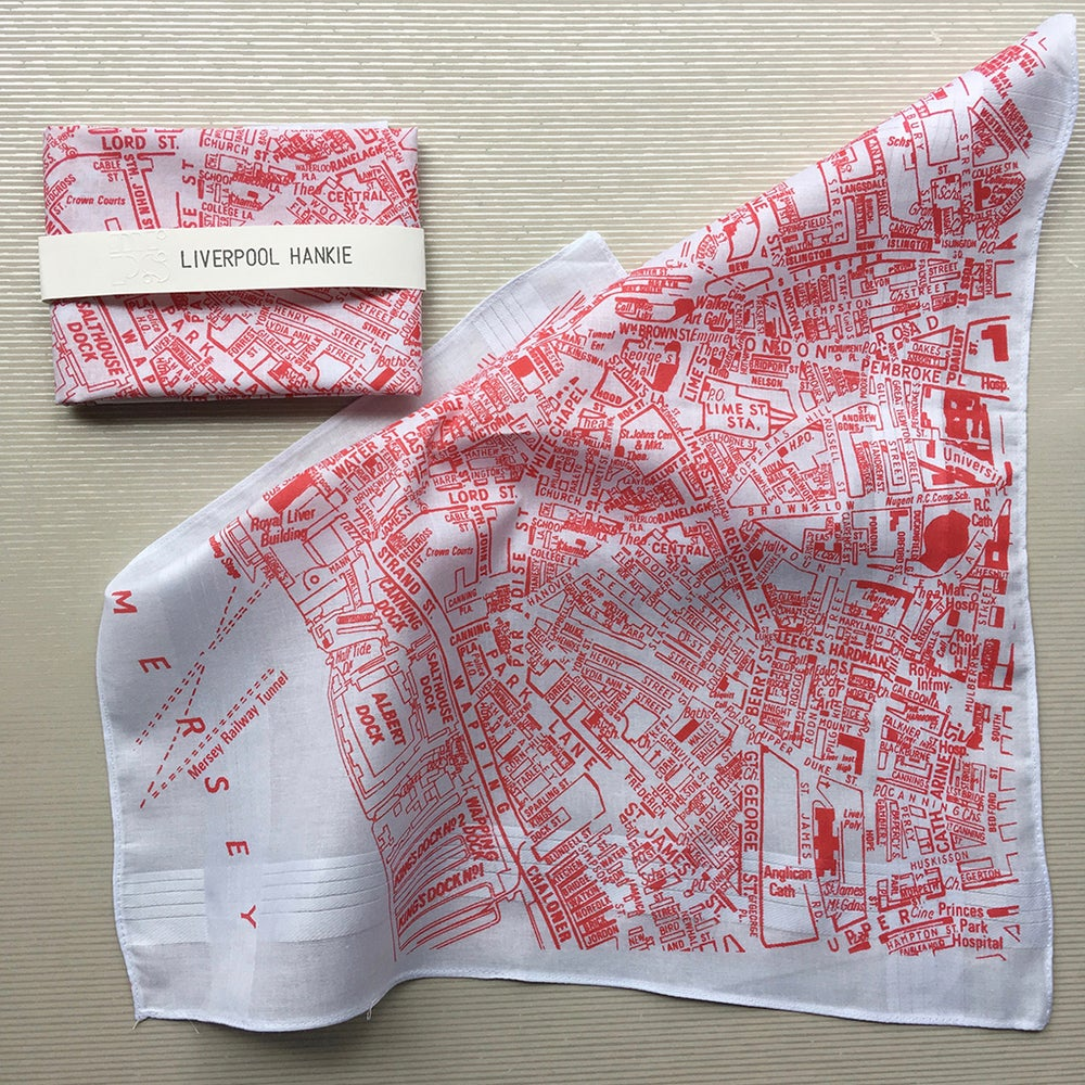 Image of Liverpool Map Hankie