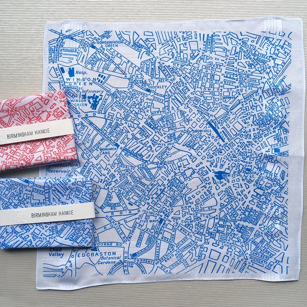 Image of Birmingham Map Hankie