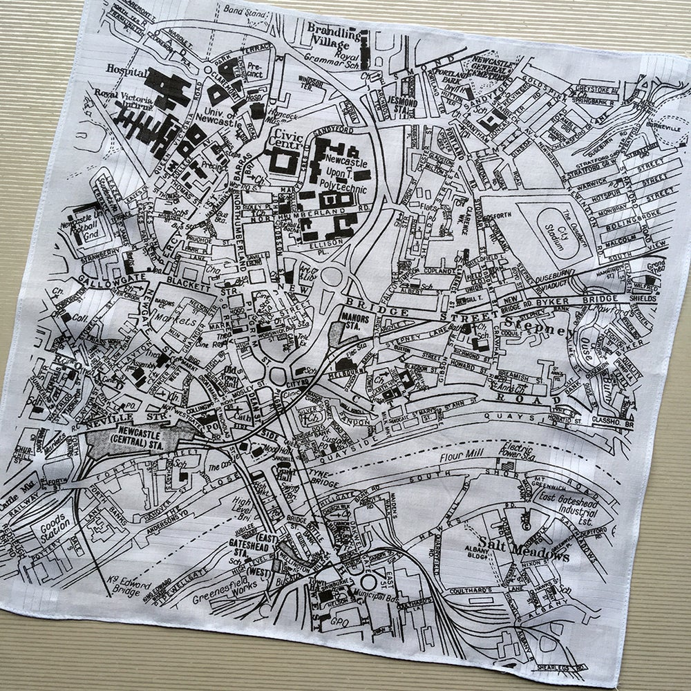 Image of Newcastle Gateshead Map Hankie