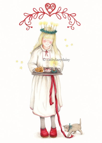 "Image of ""Santa Lucia"" large card"