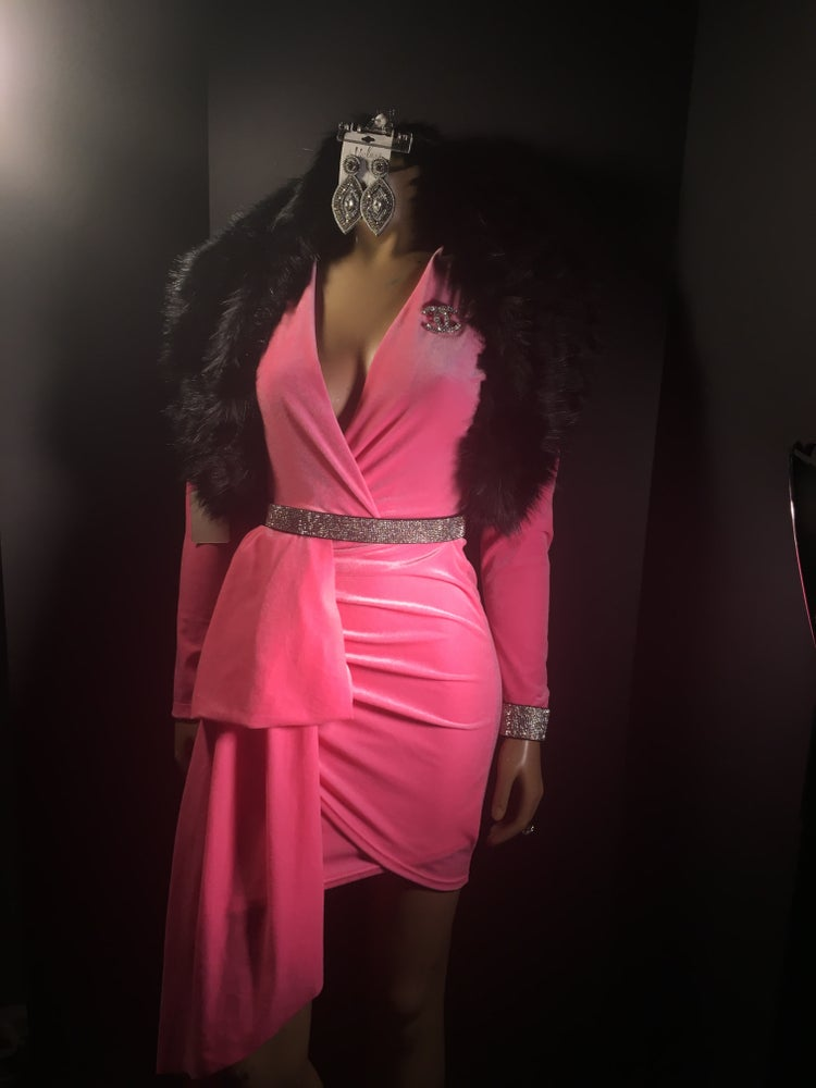 Image of Barbie pink mini dress
