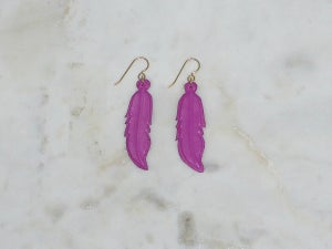 Image of RC Warrior Feather Earrings