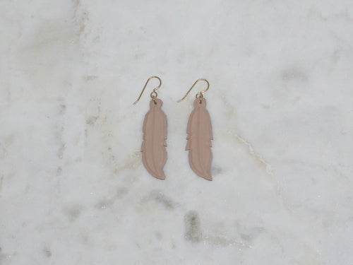 Image of Rebel Chic Warrior Feather Earrings