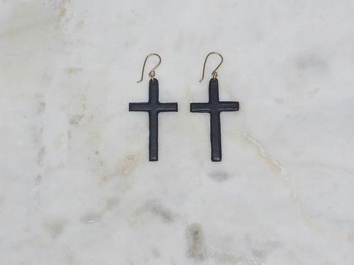 Image of Rebel Chic Sacred Heart Cross Earrings
