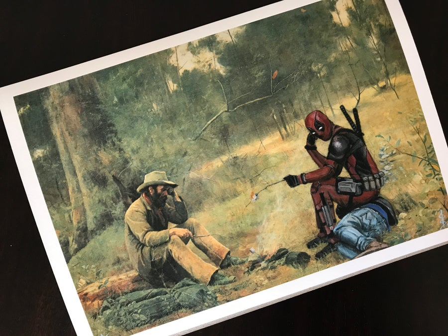 Image of McCubbin and Deadpool, Down on their Luck