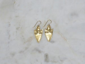 Image of RC Warrior Arrowhead Earrings