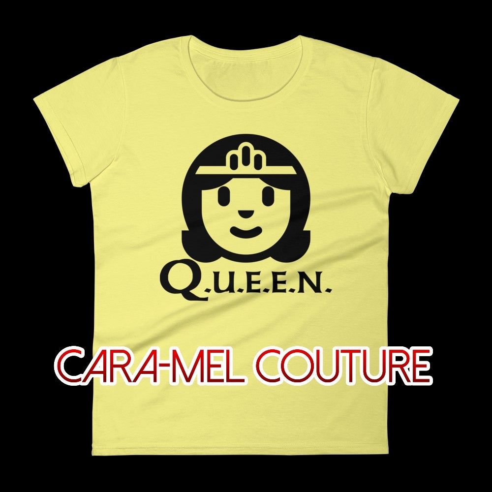 Image of Yellow Cartoon Q.U.E.E.N. T-Shirt
