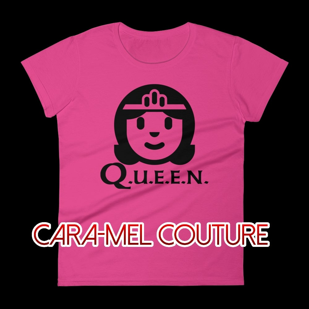 Image of Pink Cartoon Q.U.E.E.N. T-Shirt