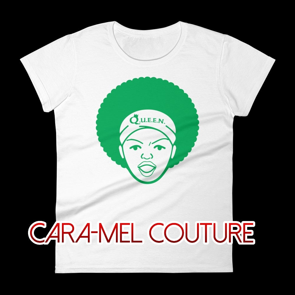 Image of White-Green Afrocentric T