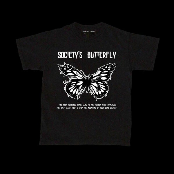 Image of SOCIETY'S BUTTERFLY T-SHIRT
