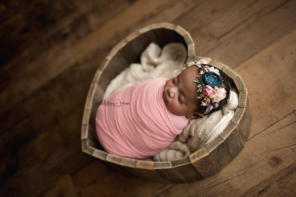 Image of Gorgeous, Hand Made, Barn Wood Heart Photo Prop, Newborn Photo Prop, Large Heart Prop, Heart Basket