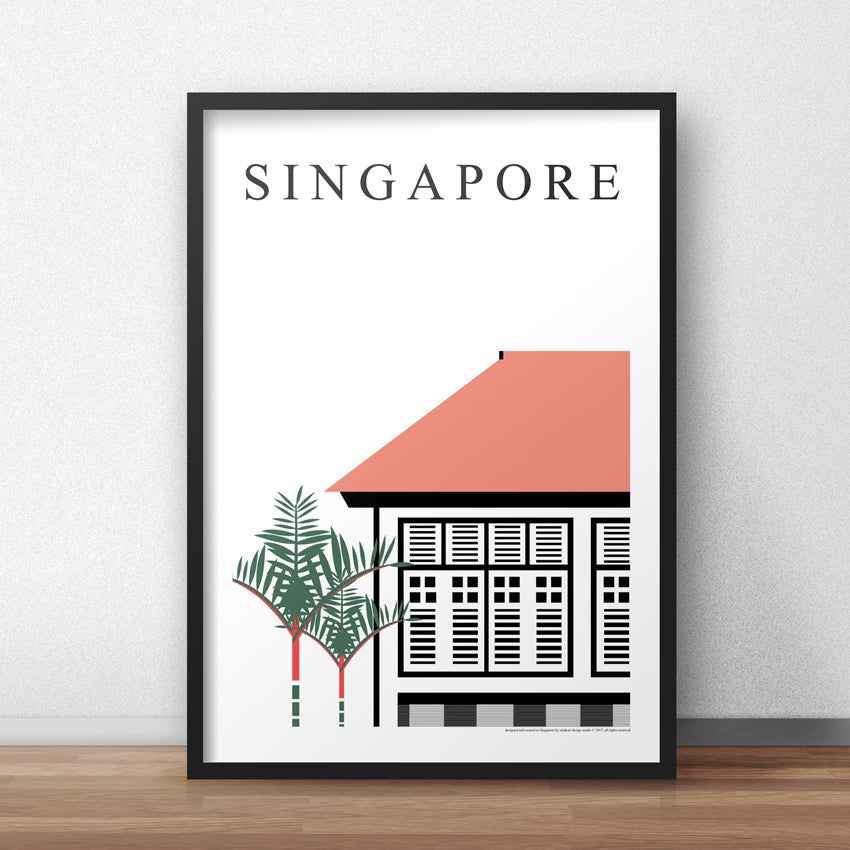 Image of Singapore Black & White (50cm x 70cm)