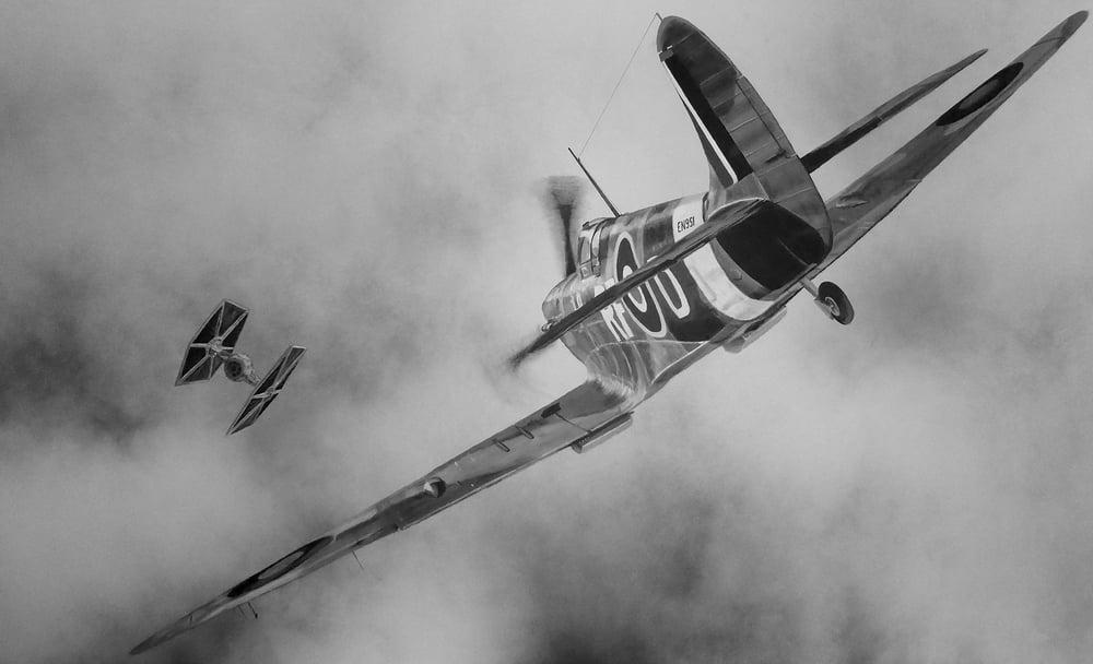 Image of Spitfire vs TIE Fighter