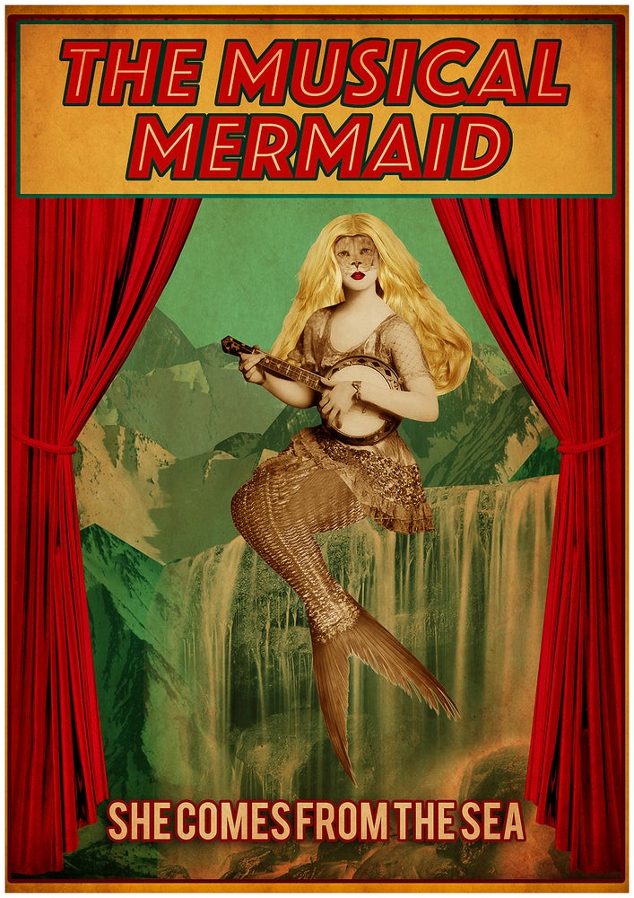 Image of Musical Mermaid A2 Poster Print