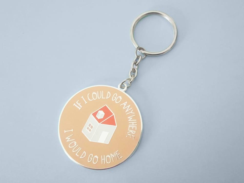 Image of Home Enamel Keychain