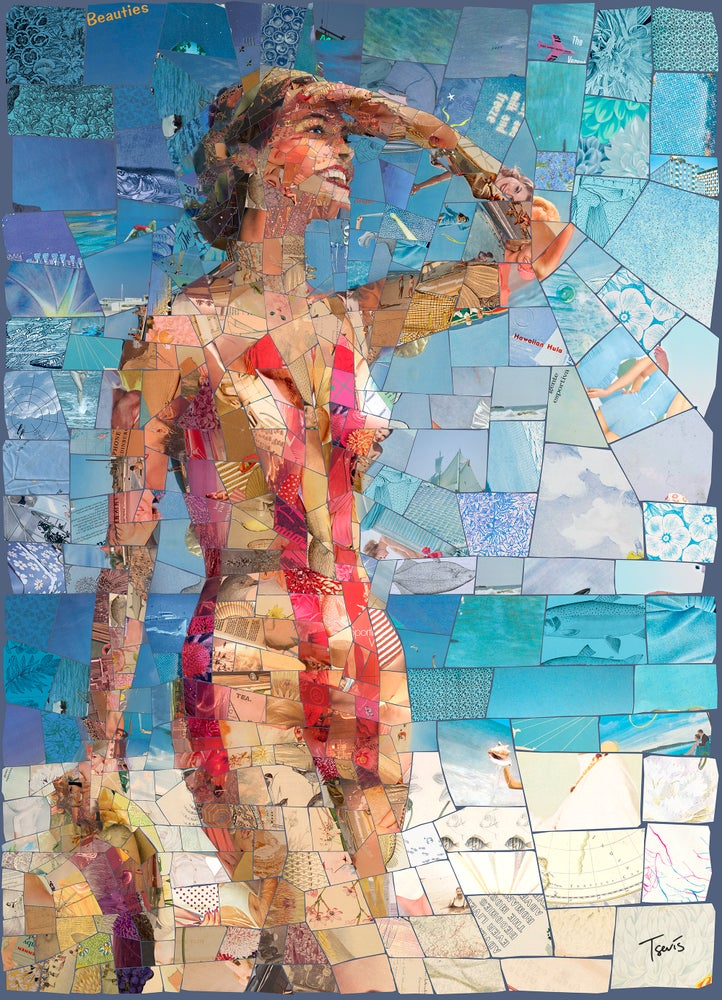"""Image of ENDLESS SUMMER """"Lovely day"""" (Limited edition digital mosaic on canvas)"""